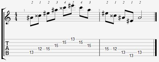 A Sharp Major Arpeggio 12th Position Notes