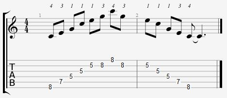 C Major Arpeggio 5th Position Notes