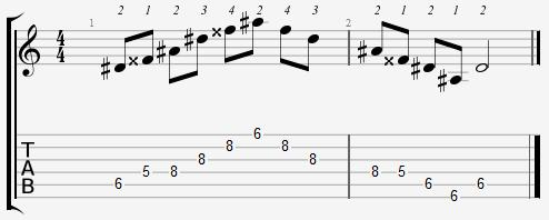 D Sharp Major Arpeggio 5th Position Notes
