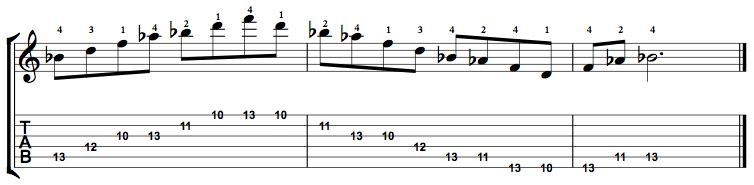 Dominant7-Arpeggio-Notes-Key-Bb-Pos-10-Shape-3