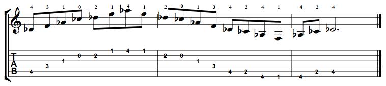 Dominant7-Arpeggio-Notes-Key-Db-Pos-Open-Shape-0