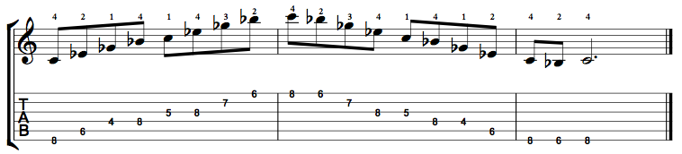 Minor7b5-Arpeggio-Notes-Key-C-Pos-4-Shape-5