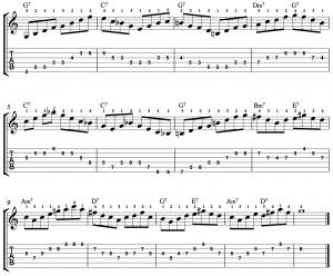 Using Arpeggios Over a 12 Bar Blues (Study)