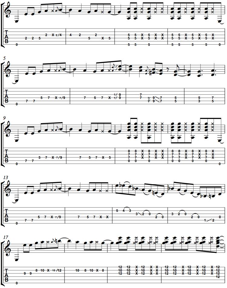 E minor Funk page1