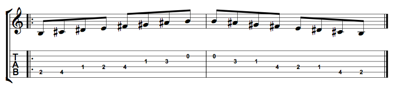B Major Scale