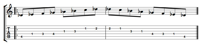 Db Major Scale