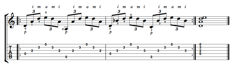Finger Picking Exercise 1