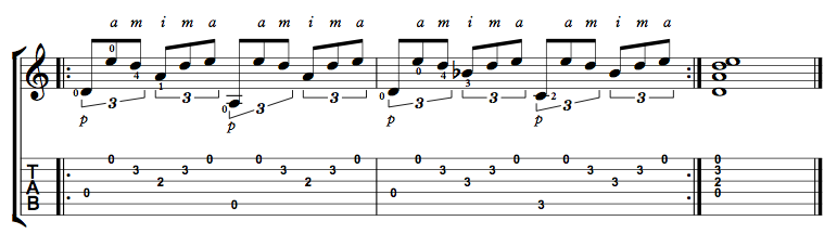 Finger Picking Exercise 3