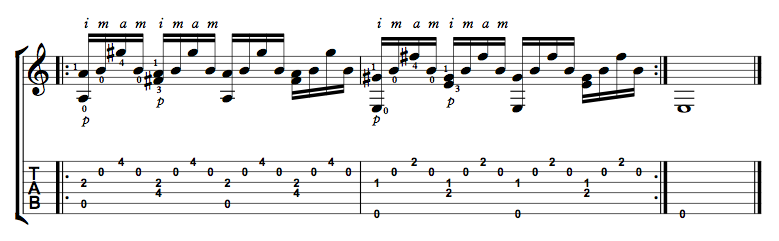 Finger Picking Exercise 8