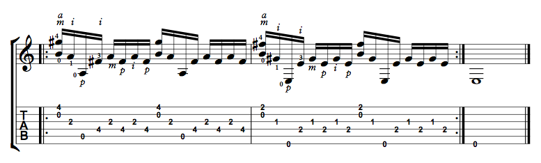 Finger Picking Exercise 9