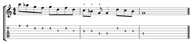 G Minor Pentatonic Connecting Lick 2