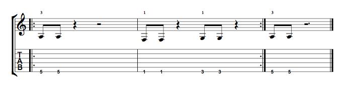 Short Riff 1 Note