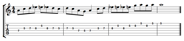 Minor Blues Lick 1
