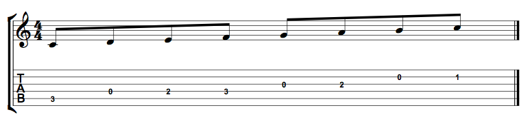 C Major Scale Open