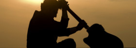 Guitarist Thinking Silhouette