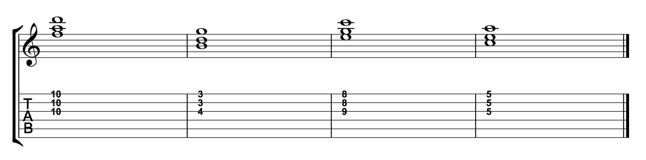 Chord Progression Using 1st Inversion Triads