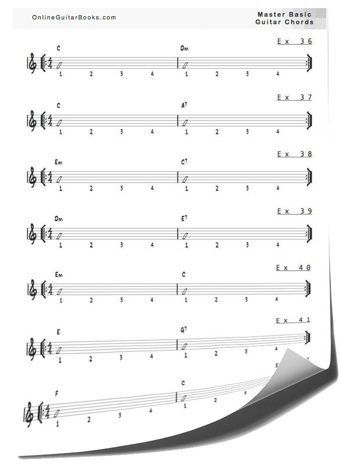 Master Basic Guitar Chords Exs Page