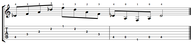 Augmented-Arpeggio-Notes-Key-Db-Pos-Open-Shape-0