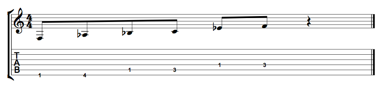 minor pentatonic scale note order tabs