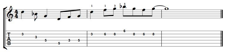G Minor Pentatonic Connecting Lick 1