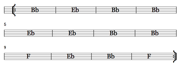 12 Bar Blues Basic Bb