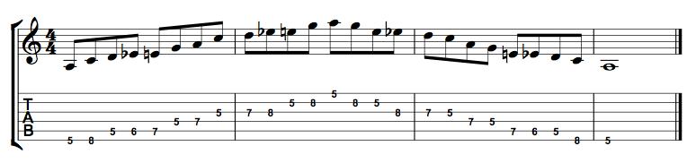 A Minor Blues 2 Octaves