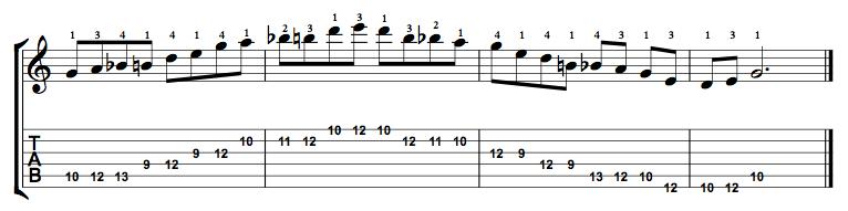 Major-Blues-Scale-Notes-Key-G-Pos-9-Shape-4