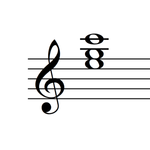 C Major Triad 1st Inversion Notes