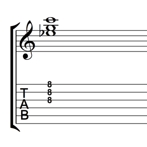 C Minor Triad 1st Inversion Notes Tabs