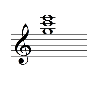 C Major Triad 2nd Inversion Notes