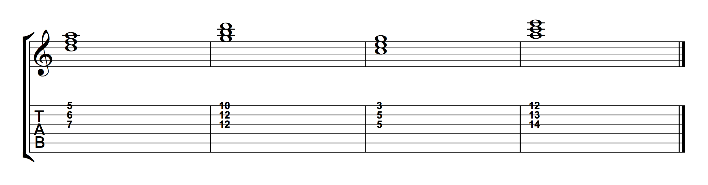 Chord Progression Using Root Position Triads