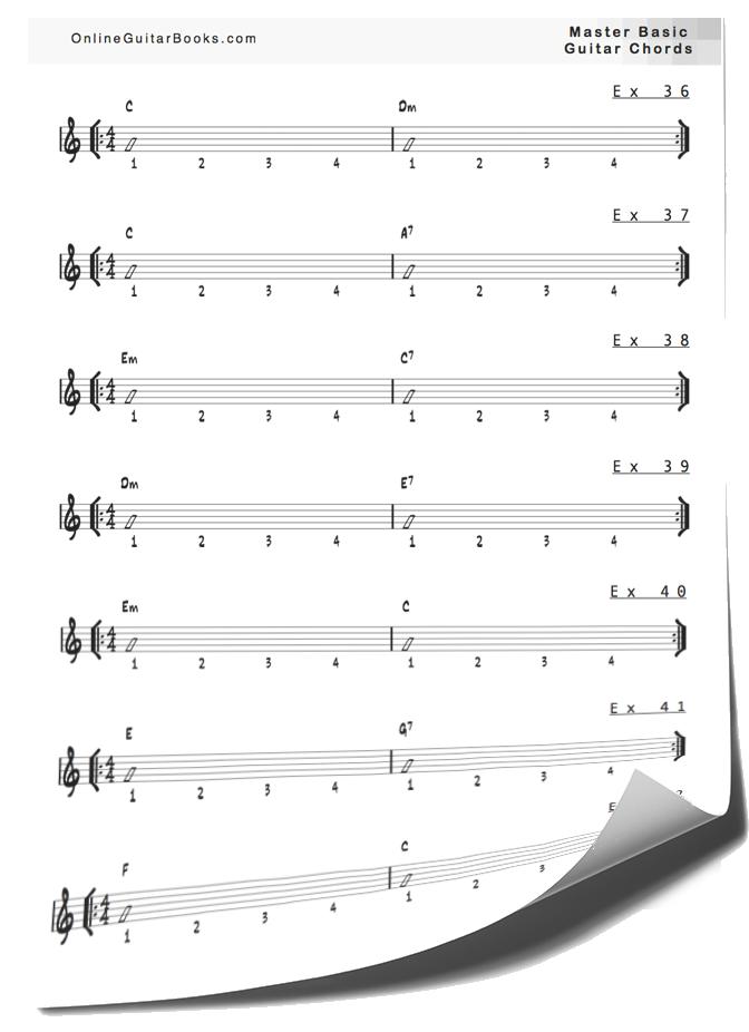 Master Basic Guitar Chords Exs Page