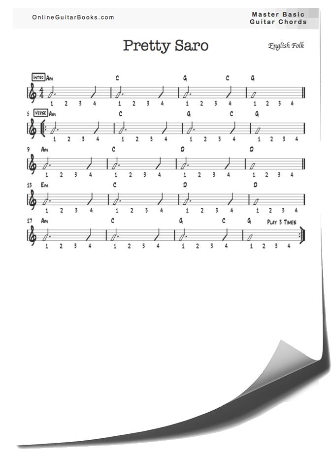 Master Basic Guitar Chords Pretty Saro Page