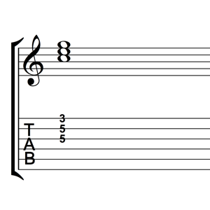 C Major Triad Root Position Notes Tabs