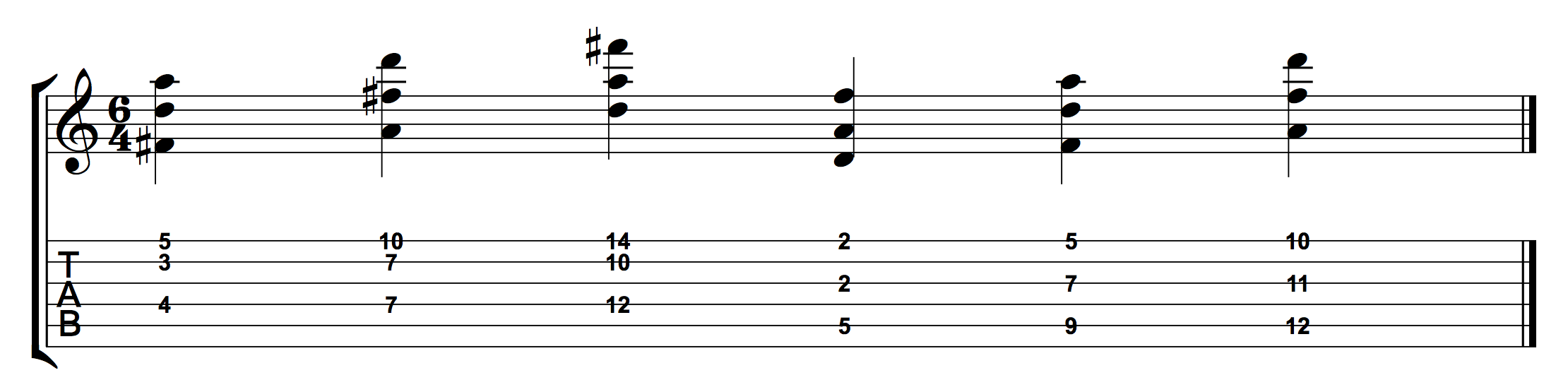 D Major Triads 124 and 135