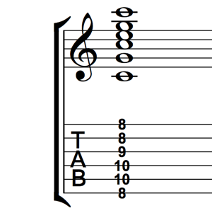 C Major Root 6 Barre Chord
