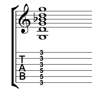 G Minor Root 6 Barre Chord