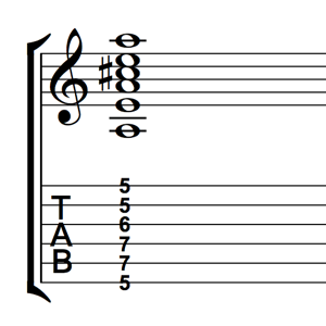 A Major Root 6 Barre Chord