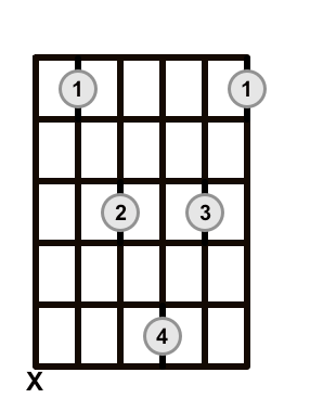 Root 5 Add 9 Barre Chord