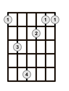 Root 6 Add 9 Barre Chord