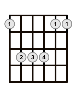 Root 6 Sus 4 Barre Chord
