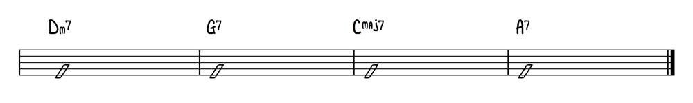Chord Progression Dm G7 Cmaj7 A7 1000