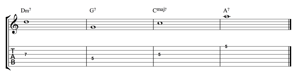 Chord Progression Just Root Notes 1000