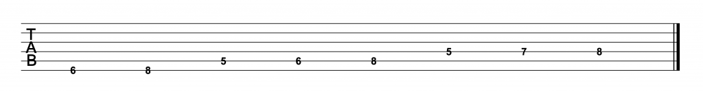 Bb Major Scale Tabs