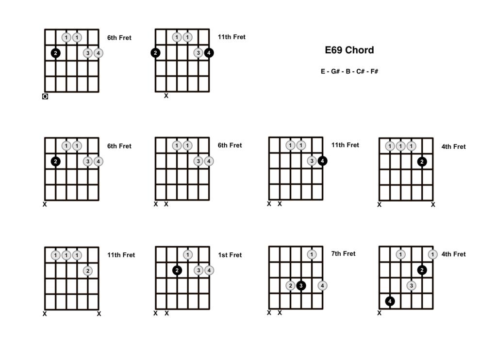 E69 Chord 10 Shapes