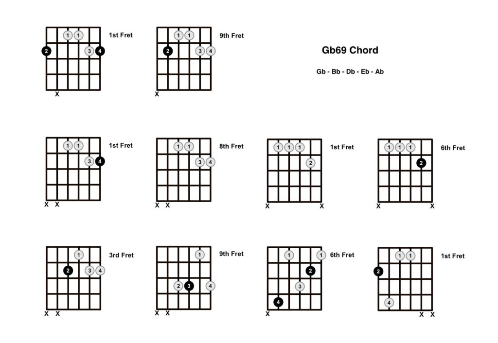 Gb69 Chord 10 Shapes